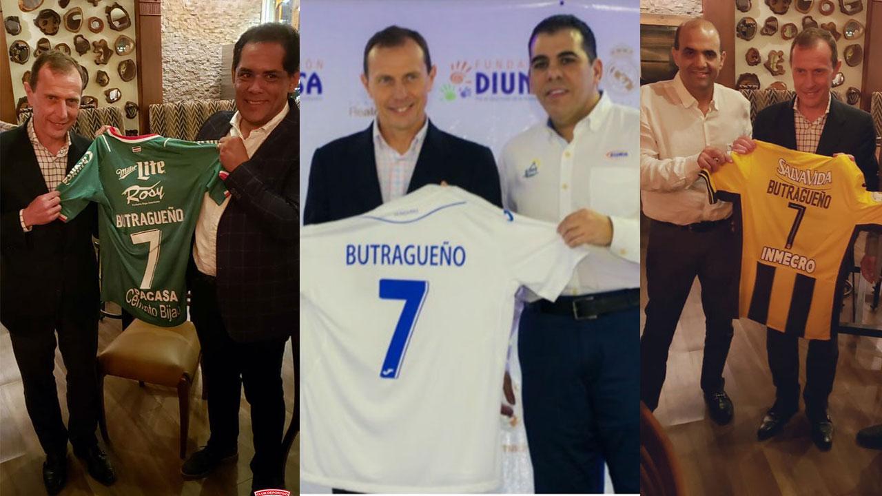 """Emilio """"El Buitre"""" Butragueño se lleva camisetas de la Selección de Honduras, Marathón y Real España"""