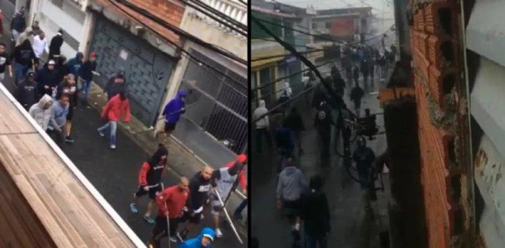 Batalla campal en Brasil entre las aficiones de San Pablo y Corinthians (VÍDEO)