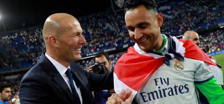 Revelan lo que Zidane le dijo a Keylor Navas para notificarle su salida del Real Madrid