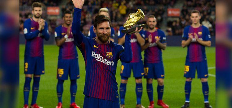 Messi gana su sexta Bota de Oro, tercera consecutiva