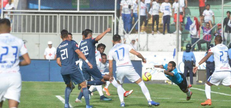 Medio tiempo: Motagua está derrotando 2-1 al Olimpia