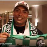 Hondureño viaja 20 horas para ver a su querido Real Betis de España (VÍDEO)