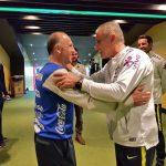 Coito y Tite se saludaron antes del partido entre Brasil y Honduras