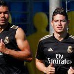 James Rodríguez vuelve a entrenar con el Real Madrid dos años después