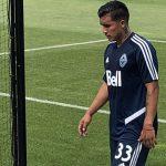 Michaell Chirinos realiza su primer entrenamiento con el Vancouver Whitecaps