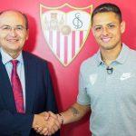 «Chicharito» Hernández fue presentado oficialmente por el Sevilla