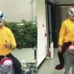 Cristiano Ronaldo se disfraza en Halloween y «asusta» a sus compañeros (VÍDEO)