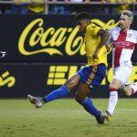 «Choco» Lozano anota su segundo gol con el Cádiz ante Huesca