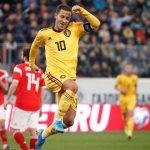 Eden Hazard brilla y garantiza a Bélgica el liderato de su grupo ante Rusia