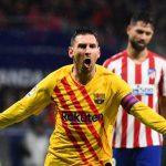 Barcelona con gol de Messi derrota al Atlético y recuperan el liderato de la liga