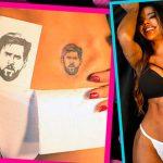Miss BumBum Suzy Cortez se tatúa la cara de Messi (VÍDEO)