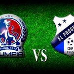 Alineaciones de Olimpia y Honduras Progreso