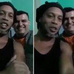 Ronaldinho sorprende con un vídeo desde la cárcel