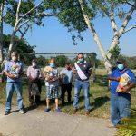Jonathan Rubio envía víveres a taxistas sampedranos en cuarentena por coronavirus