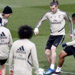 Gareth Bale vuelve con el grupo en el primer entrenamiento de la semana