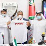 Jorge Luis Pinto es presentado como nuevo entrenador de los Emiratos Árabes Unidos