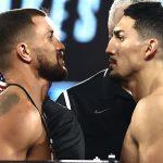 ¡Hora de pelear!: Así fue el pesaje de Teófimo López y Vasyl Lomachenko
