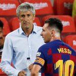 Quique Setién reconoce que Messi es «difícil de manejar» en Barcelona