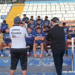 Jugadores de Motagua reciben visita del presidente Eduardo Atala previo al partido contra Marathón
