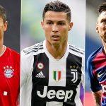 Cristiano, Messi y Lewandowski aspirantes a Globe Soccer Awards 2020