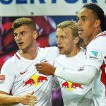 Leipzig se impone al Augsburgo y presiona al líder Bayern