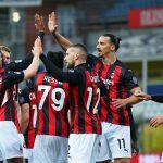 Ibrahimovic ve la roja en la victoria del Milan 3-1 frente al Parma