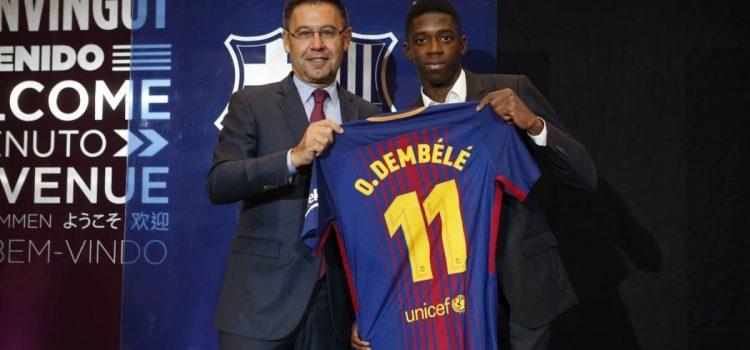 Barcelona presentó a Dembélé