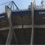 Por el terremoto se fracturó el Estadio Azteca