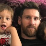 Messi compartió un «meme» de sus hijos