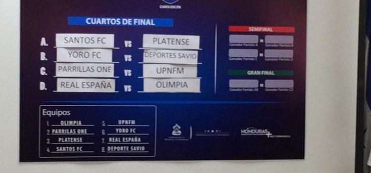 Olimpia y Real España en cuartos de final de la Copa Presidente