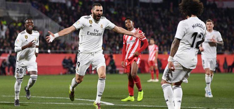 Real Madrid eliminó al Girona con doblete de Benzema