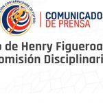 Federación de Costa Rica se pronuncia sobre Henry Figueroa por «evasión de prueba doping»