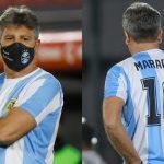 Entrenador del Gremio de Brasil dirige con la camiseta 10 de Maradona como homenaje