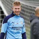 Kevin De Bruyne vuelve a los entrenamientos del Manchester City
