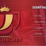 Sevilla-Barcelona y Athletic-Levante son los cruces de semifinales de la Copa del Rey
