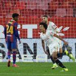 El Sevilla aprovecha los fallos de Umtiti y acaricia la final de la Copa del Rey