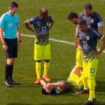 Jonathan Rubio salió lesionado en el triunfo del Chaves 1-0 sobre UD Oliveirense