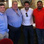 Presidente del Vida se reunió con exfutbolista Deco para firmar un acuerdo de promoción en Portugal